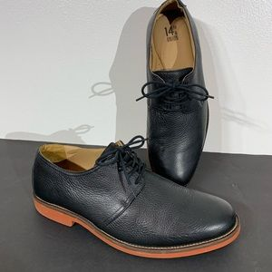 14th & Union Black Leather Oxford Dress Shoes 10.5